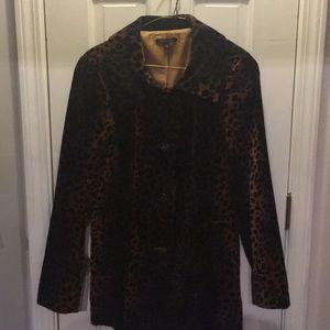 Velvet leopard blazer